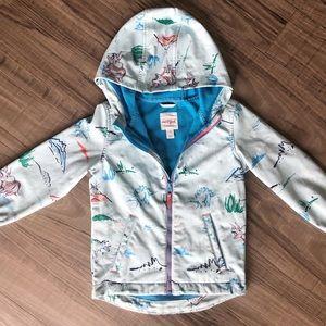 Cat & Jack Dinosaur Soft shell Coat / Rain Jacket